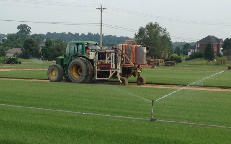 Uhl Turf Harvesting Sod Automatically