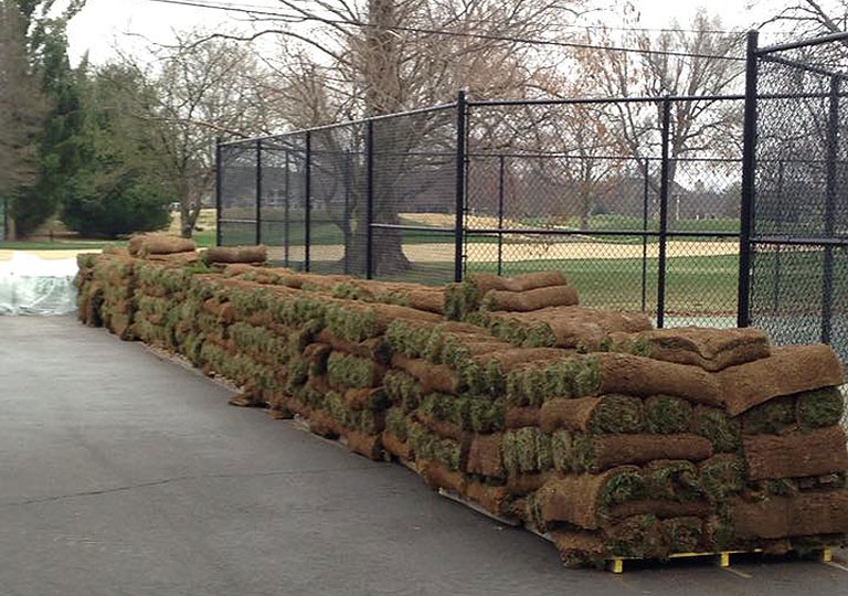 Sod delivered and ready for installation